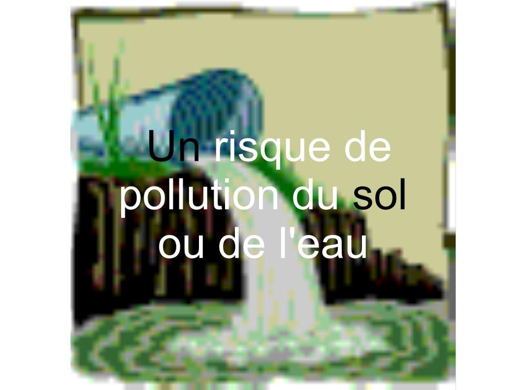 Un risque de pollution du sol
