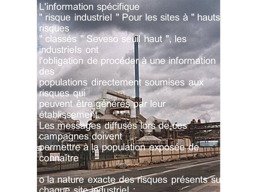 L information spécifique