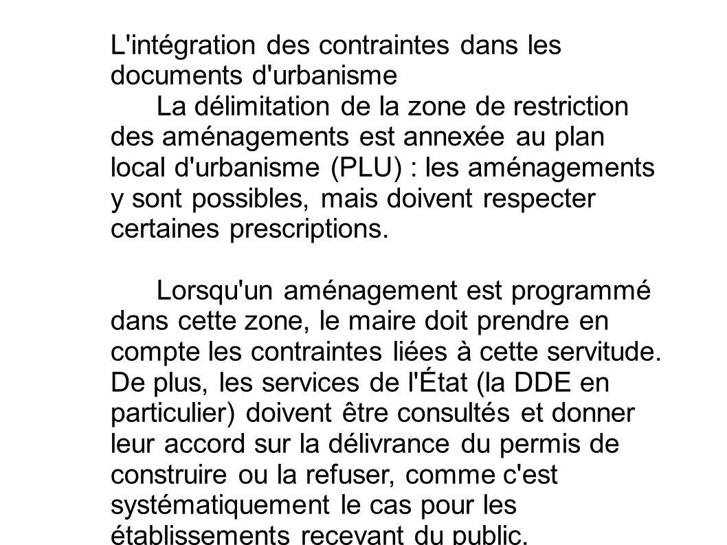 L intégration des contraintes dans les documents d urbanisme