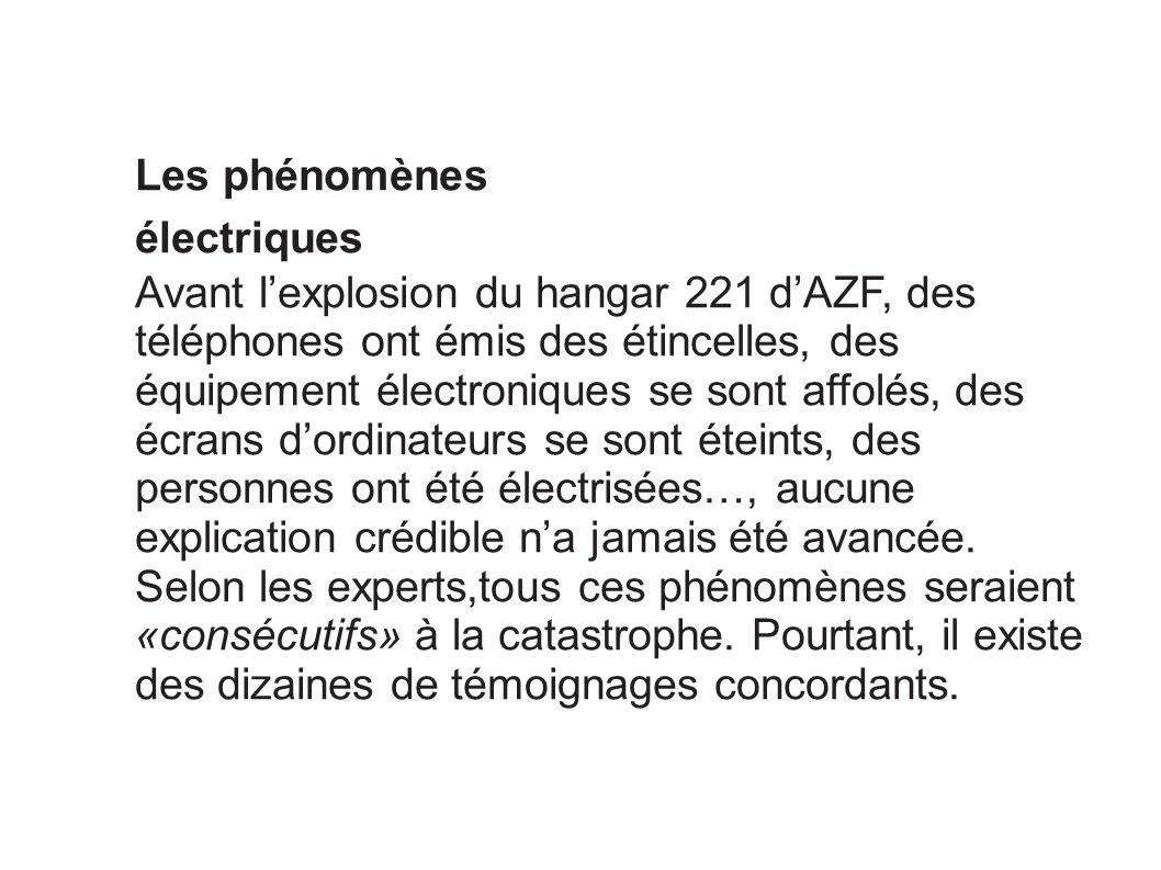 Les phénomènes électriques.
