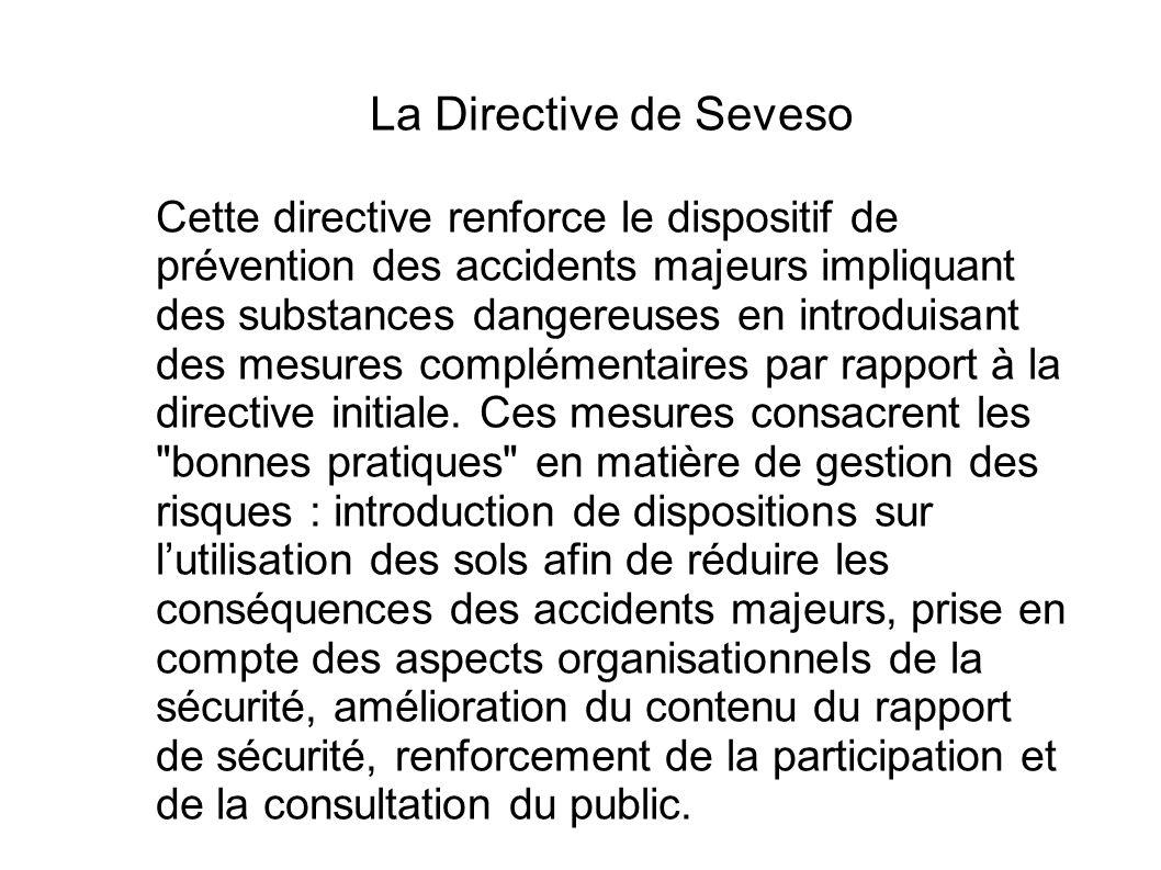 La Directive de Seveso