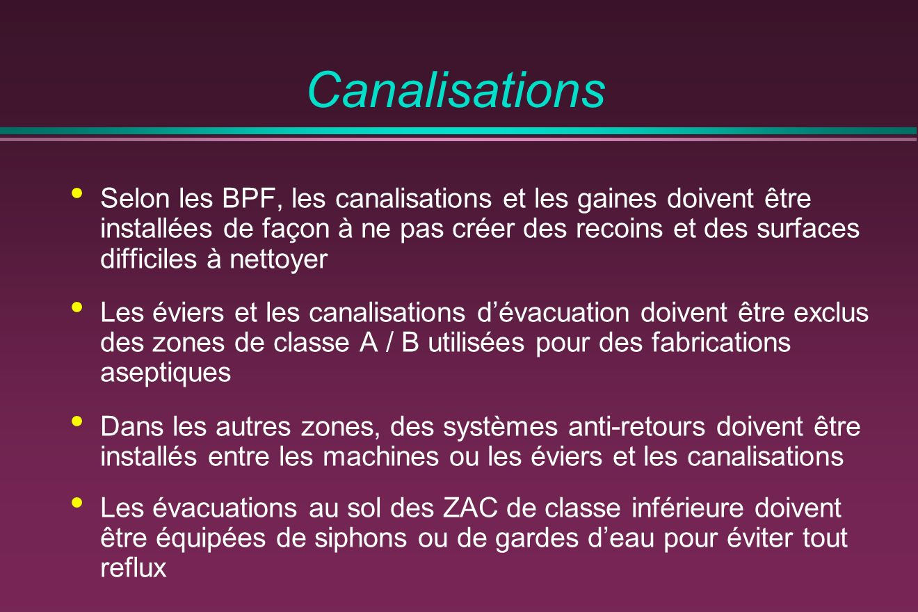 Canalisations