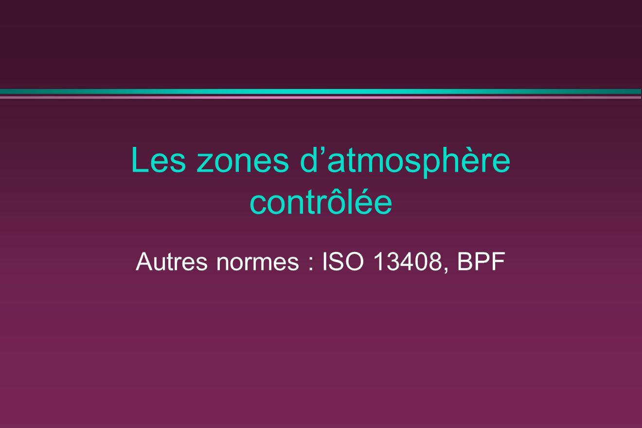 Les zones d'atmosphère contrôlée
