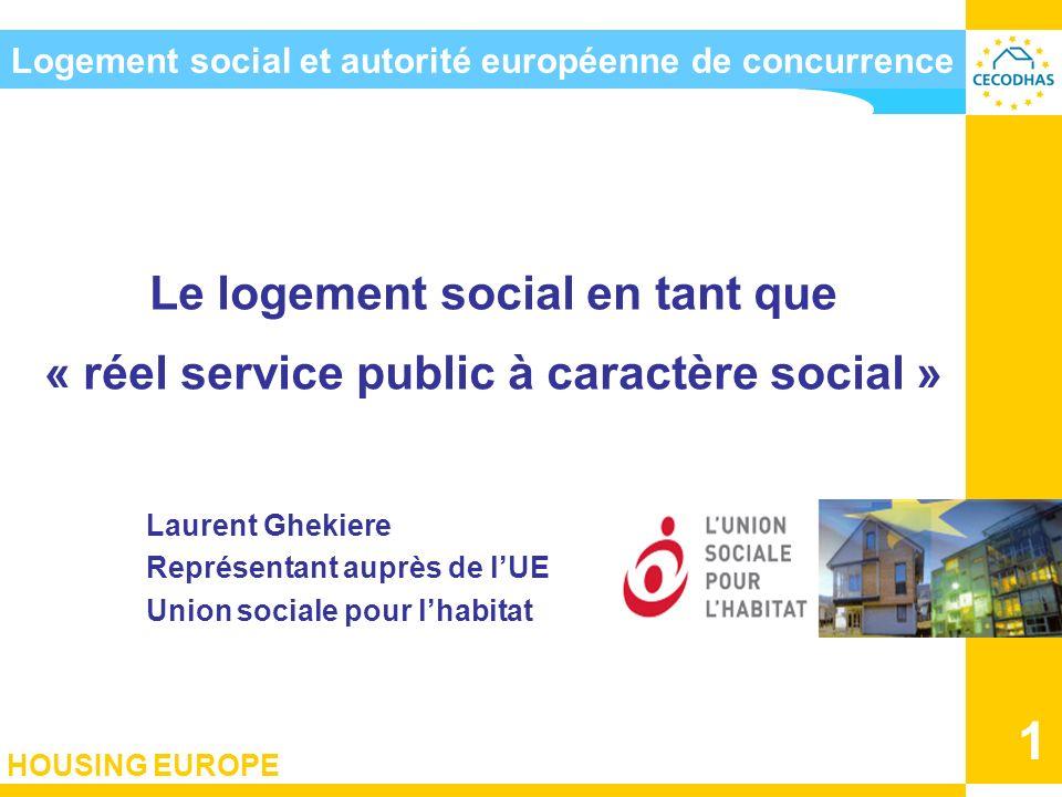 Logement social et autorité européenne de concurrence