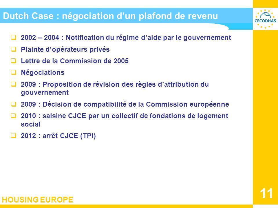 Dutch Case : négociation d'un plafond de revenu