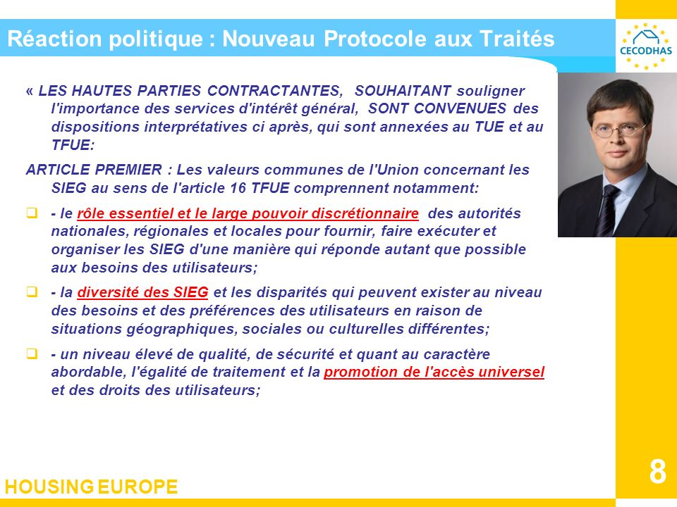Réaction politique : Nouveau Protocole aux Traités