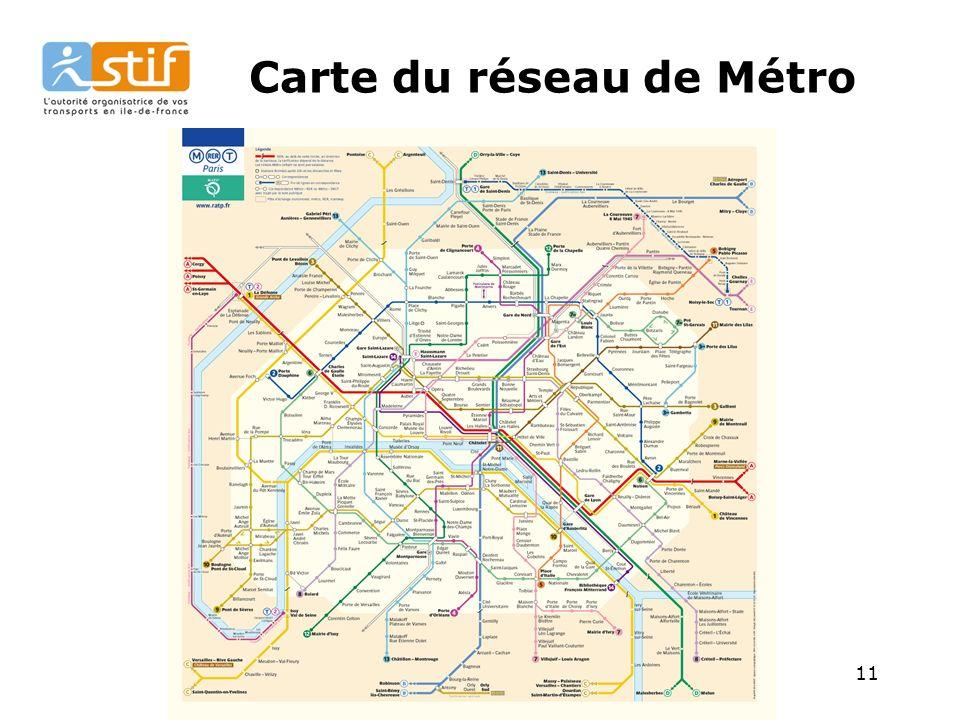 Carte du réseau de Métro