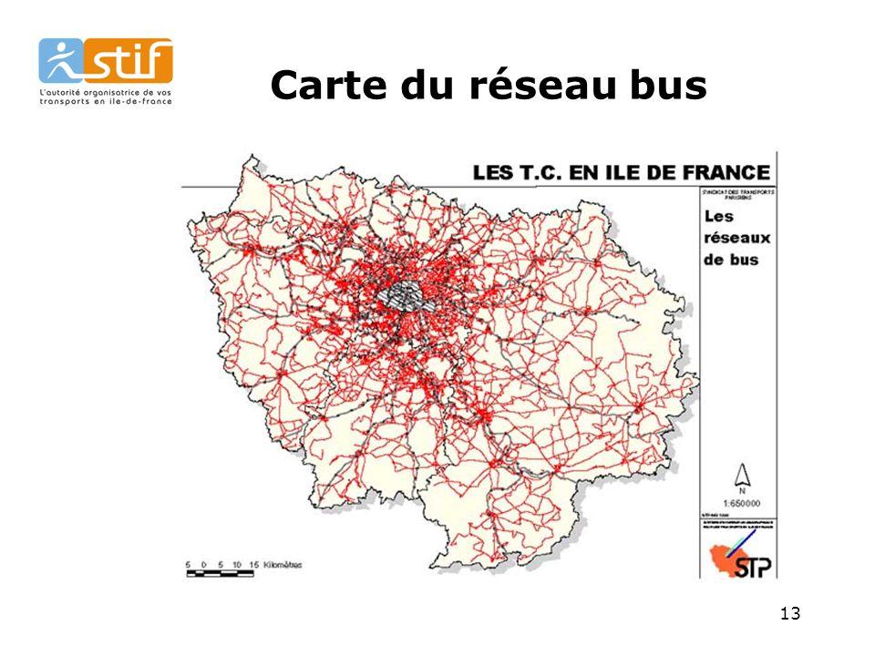 Carte du réseau bus