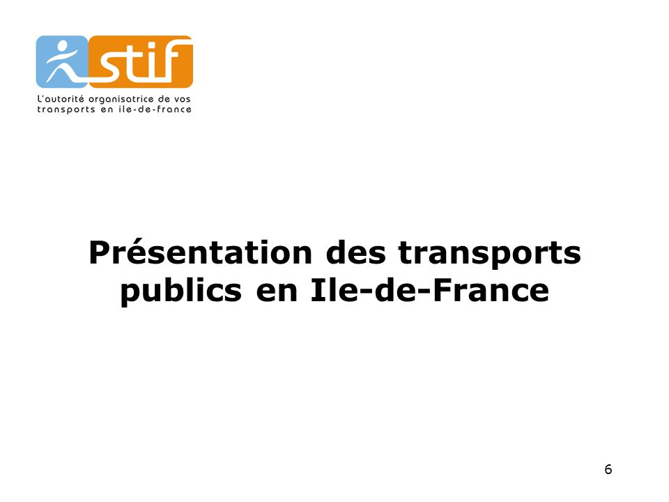 Présentation des transports publics en Ile-de-France