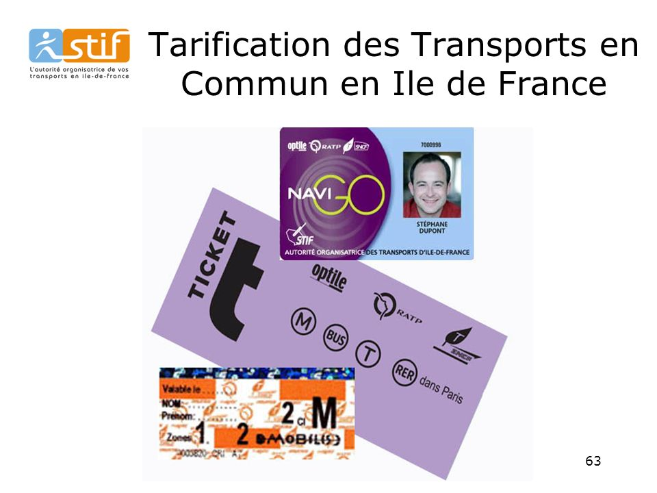 Tarification des Transports en Commun en Ile de France
