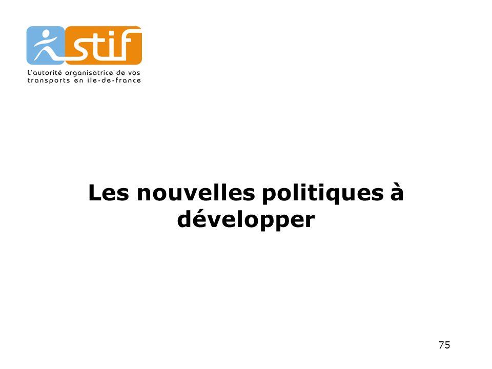 Les nouvelles politiques à développer