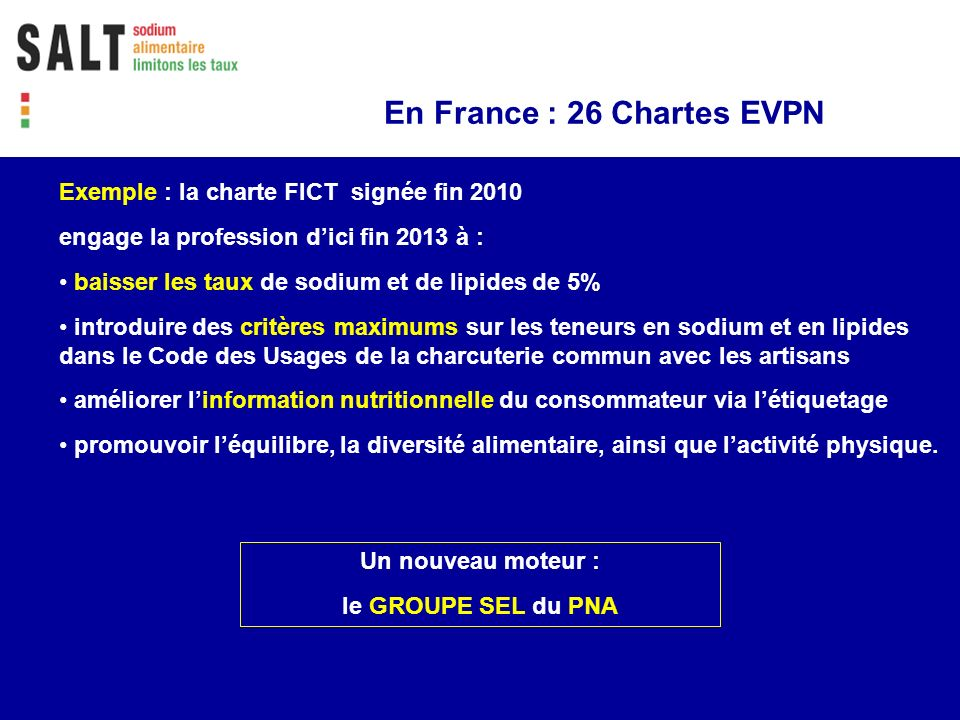 En France : 26 Chartes EVPN
