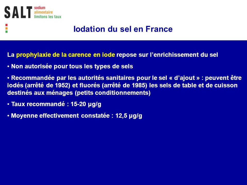 Iodation du sel en France