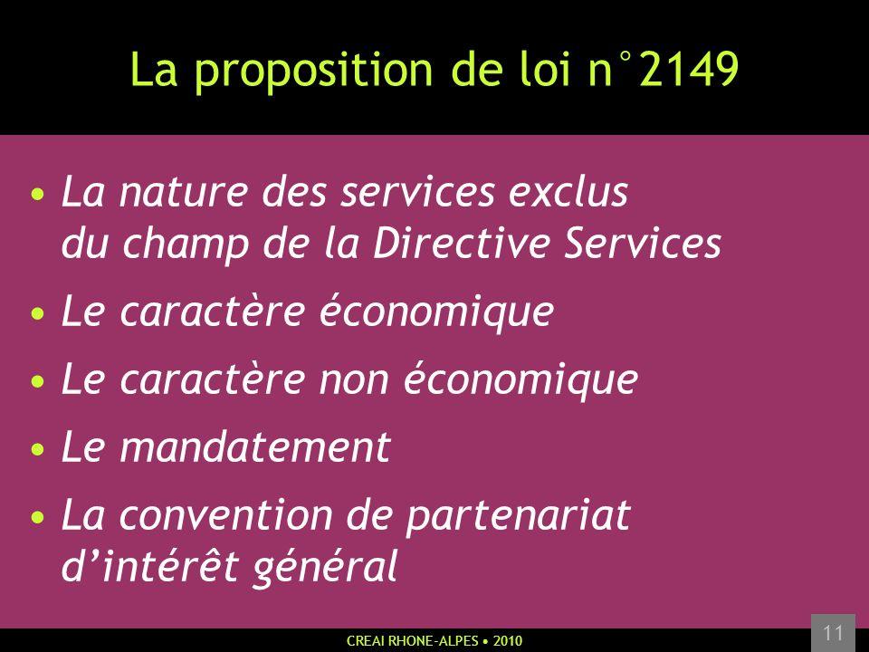 La proposition de loi n°2149