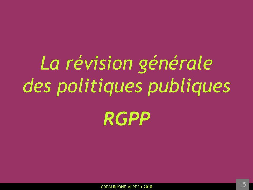 La révision générale des politiques publiques RGPP