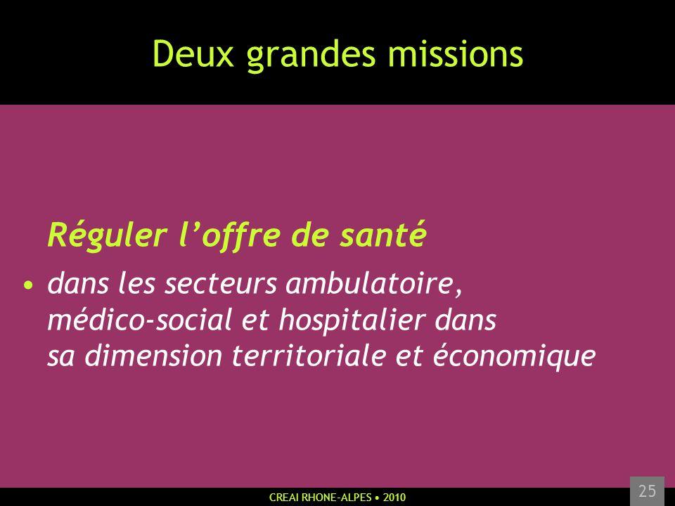 Deux grandes missions