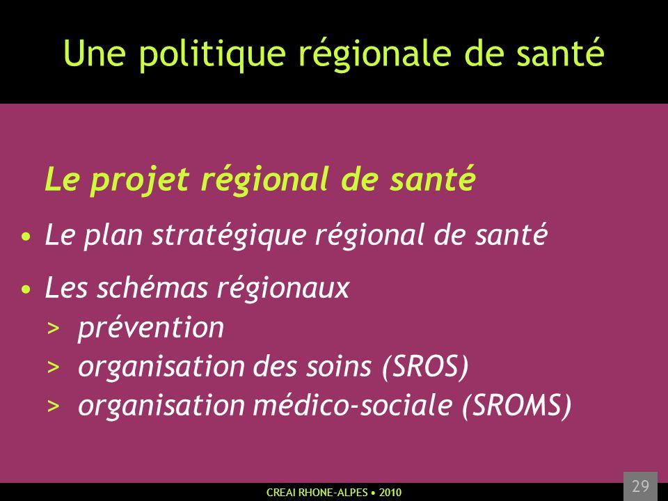 Une politique régionale de santé