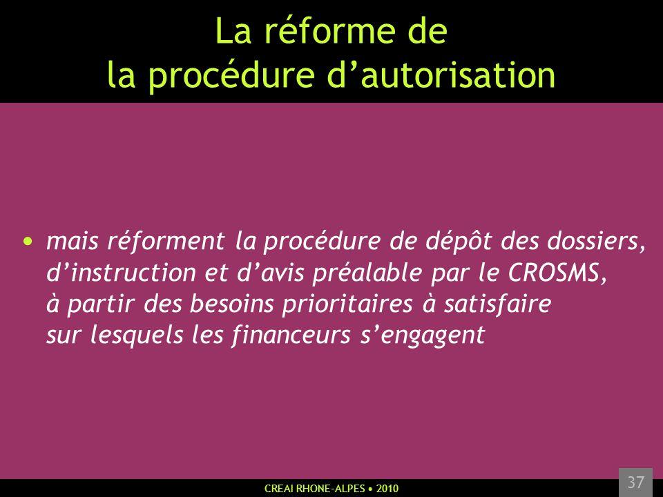 La réforme de la procédure d'autorisation