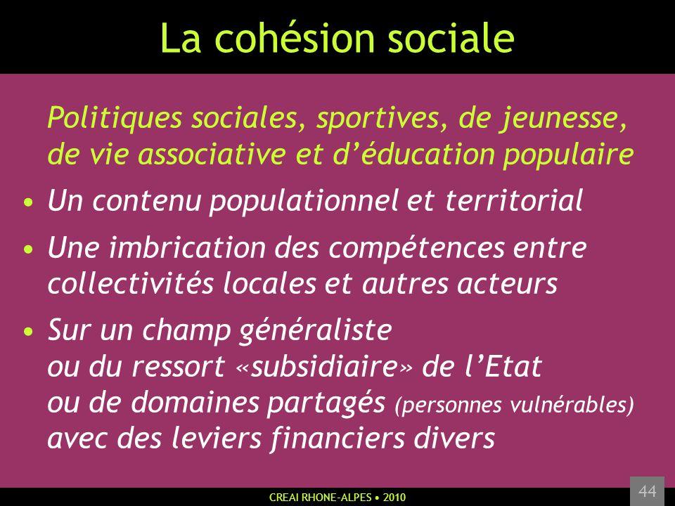 La cohésion sociale