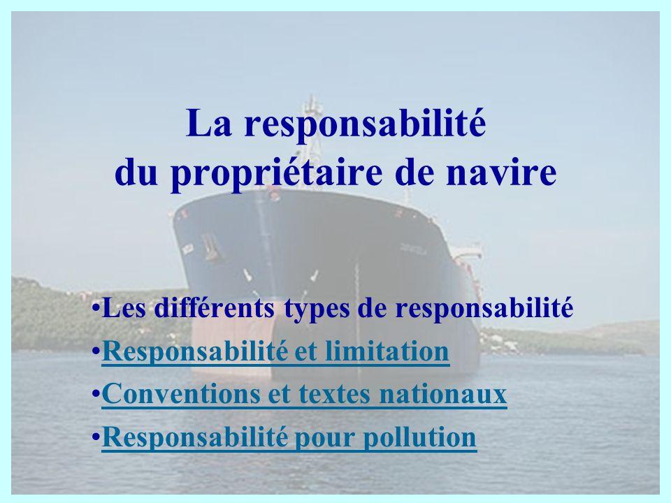La responsabilité du propriétaire de navire