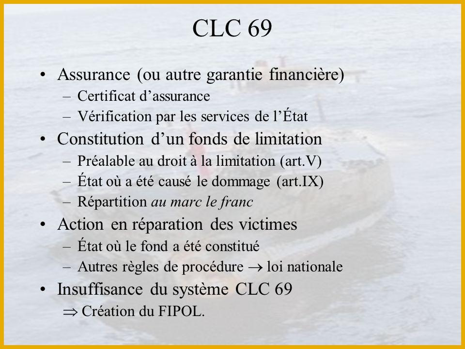 CLC 69 Assurance (ou autre garantie financière)