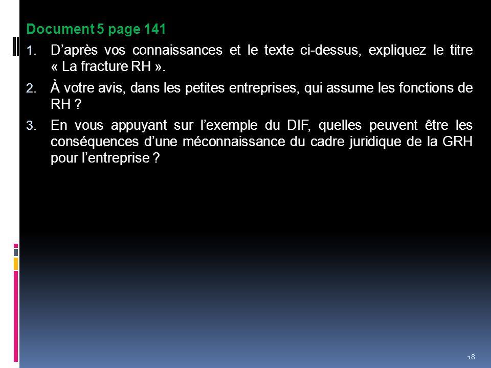 Document 5 page 141 D'après vos connaissances et le texte ci-dessus, expliquez le titre « La fracture RH ».