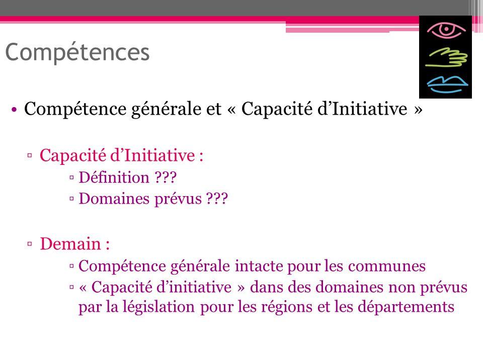 Compétences Compétence générale et « Capacité d'Initiative »