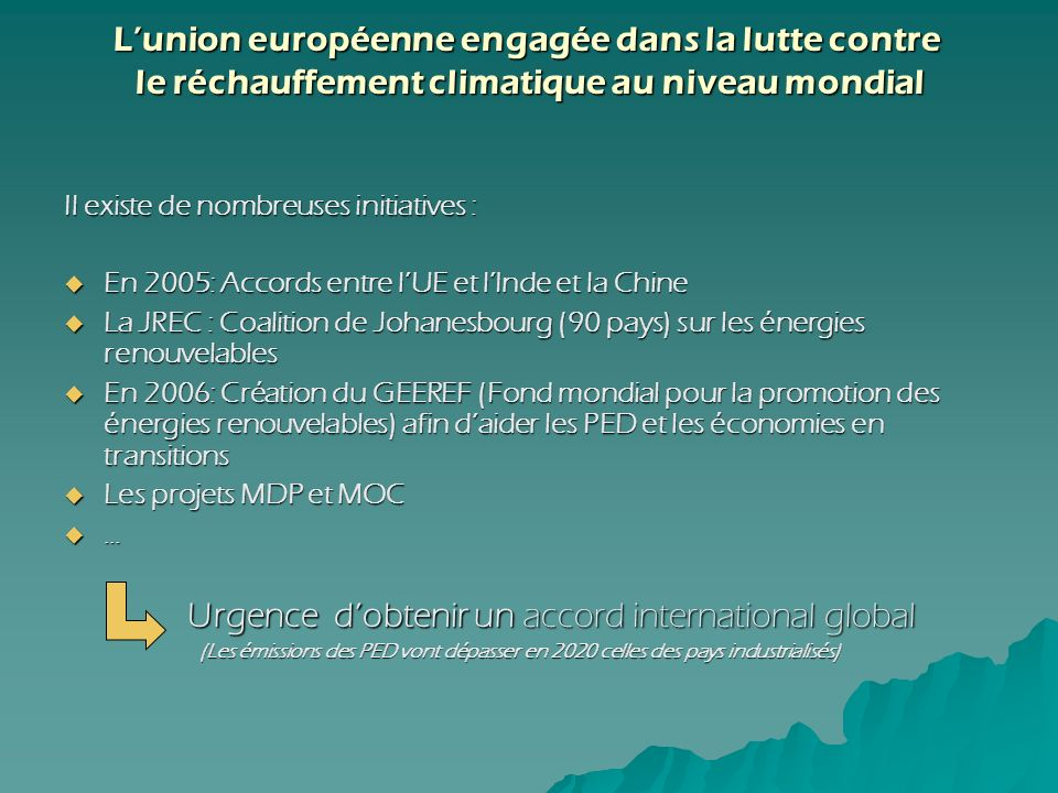 L'union européenne engagée dans la lutte contre