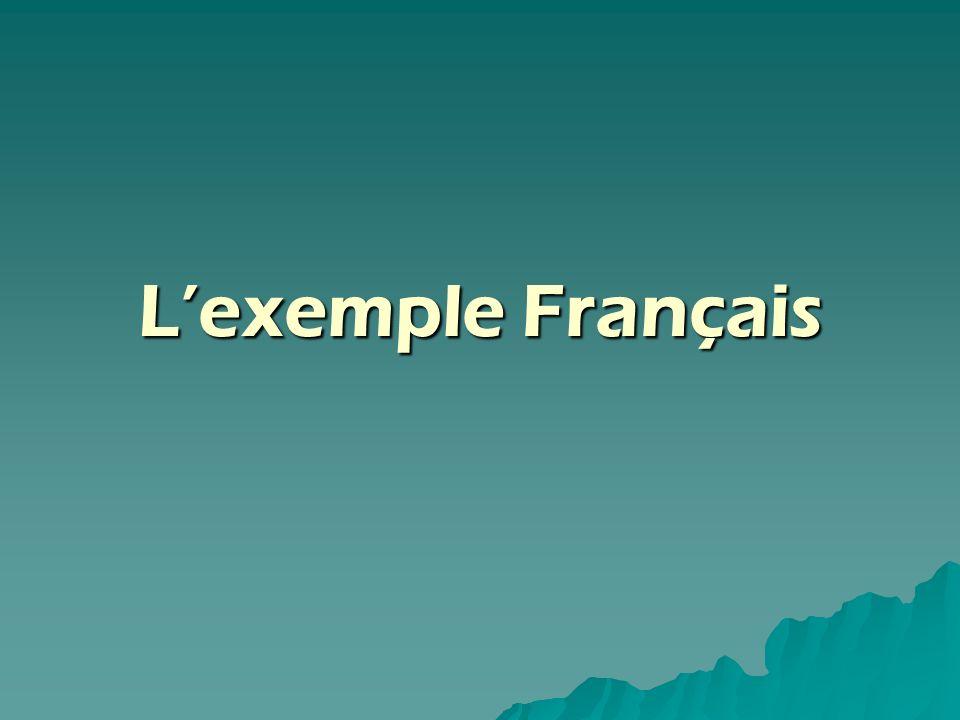 L'exemple Français