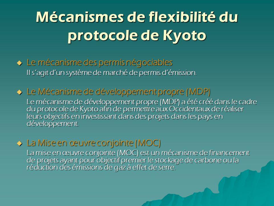 Mécanismes de flexibilité du protocole de Kyoto