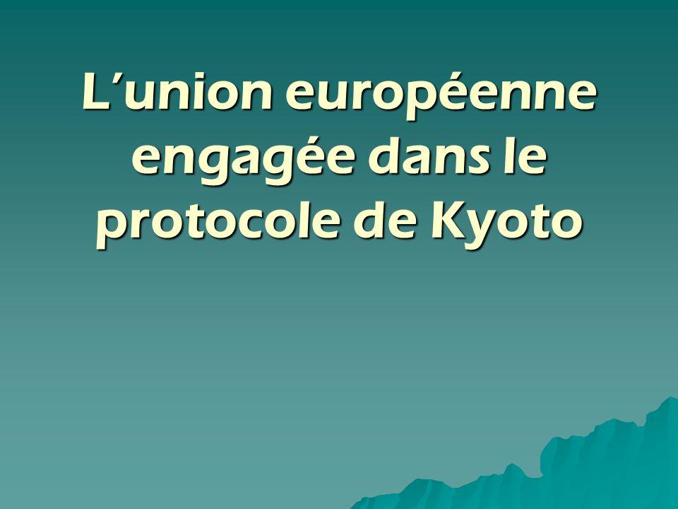 L'union européenne engagée dans le protocole de Kyoto