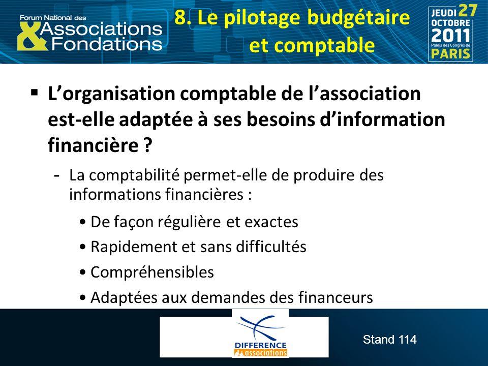 8. Le pilotage budgétaire et comptable