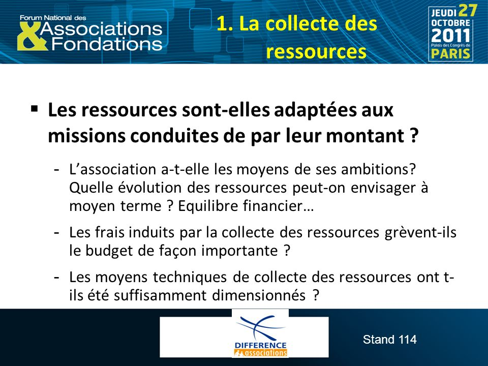 1. La collecte des ressources