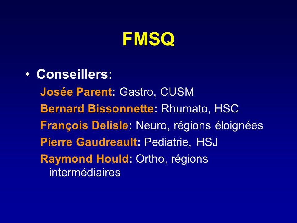 FMSQ Conseillers: Josée Parent: Gastro, CUSM