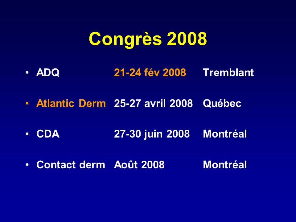 Congrès 2008 ADQ 21-24 fév 2008 Tremblant