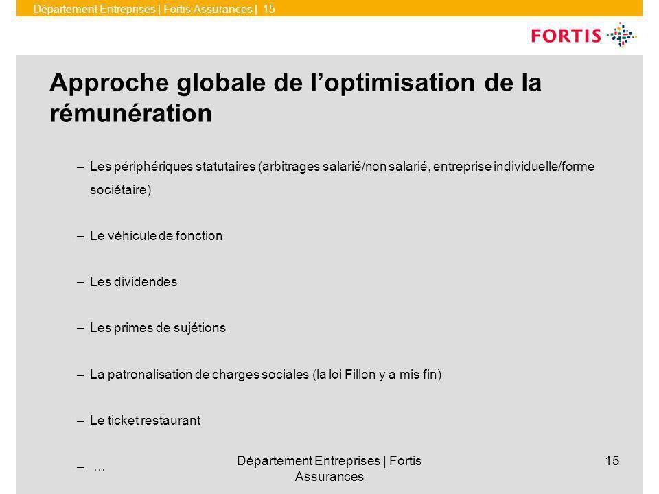 Approche globale de l'optimisation de la rémunération