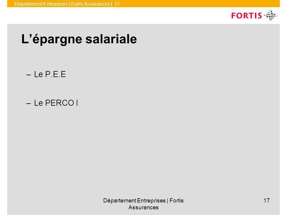 Département Entreprises | Fortis Assurances