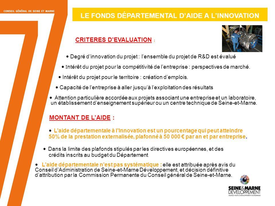 LE FONDS DÉPARTEMENTAL D'AIDE A L'INNOVATION