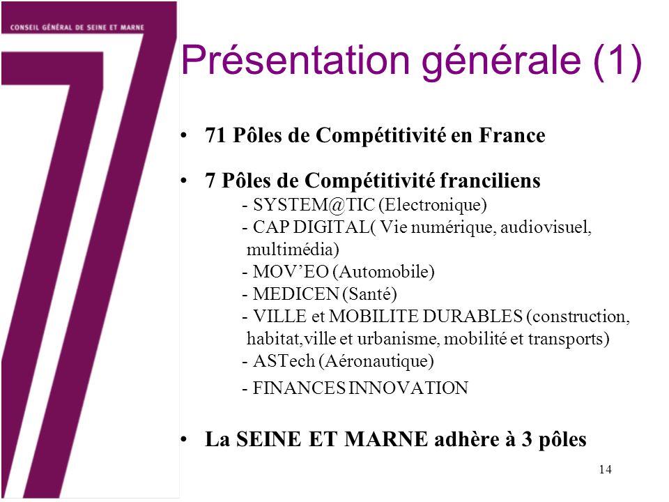 Présentation générale (1)