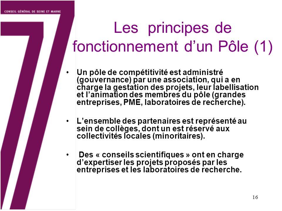 Les principes de fonctionnement d'un Pôle (1)
