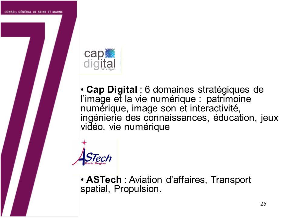 Cap Digital : 6 domaines stratégiques de l'image et la vie numérique : patrimoine numérique, image son et interactivité, ingénierie des connaissances, éducation, jeux vidéo, vie numérique