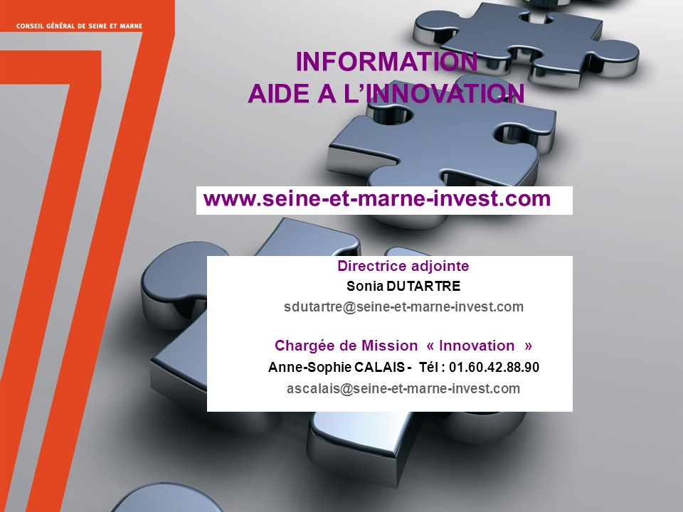 INFORMATION AIDE A L'INNOVATION