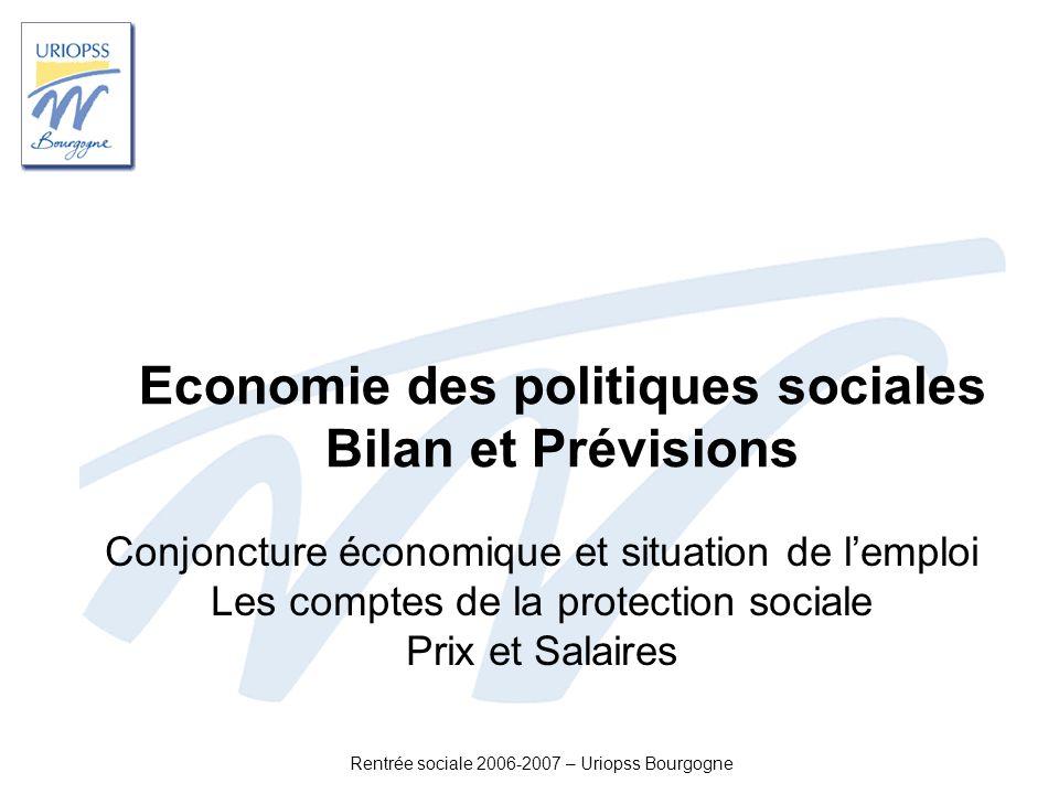 Economie des politiques sociales Bilan et Prévisions