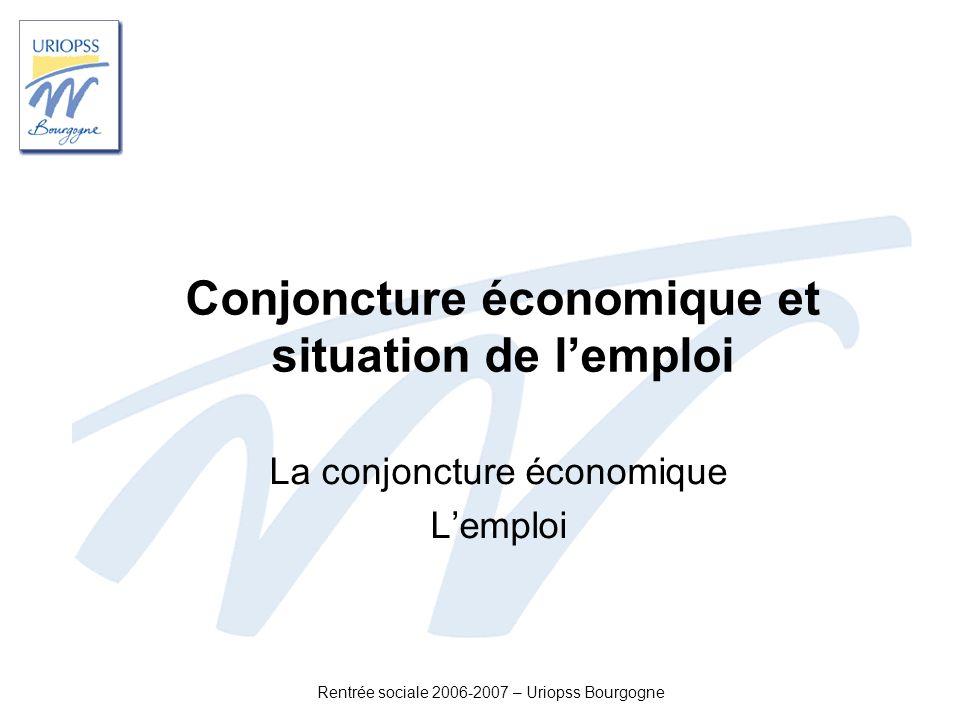 Conjoncture économique et situation de l'emploi
