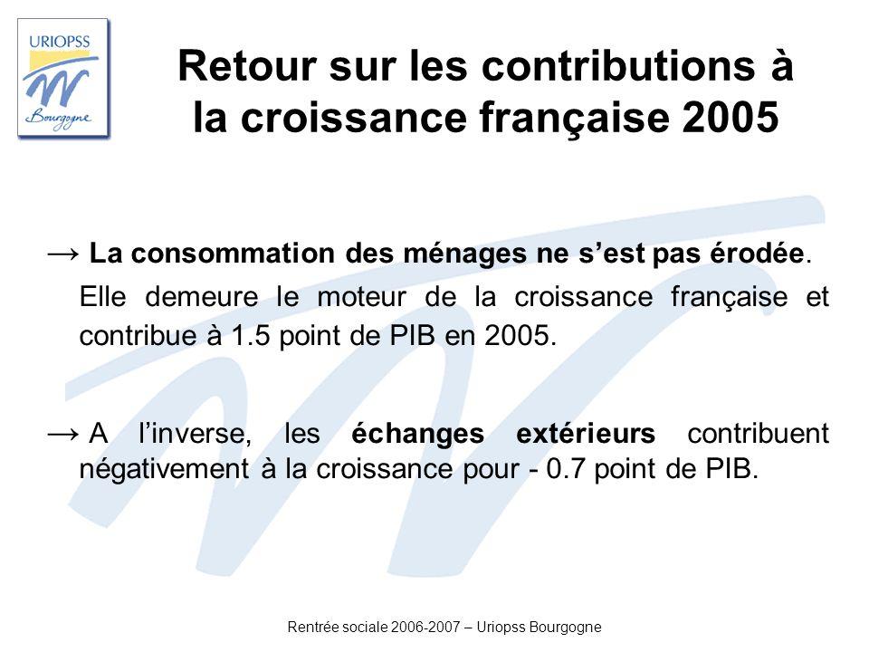 Retour sur les contributions à la croissance française 2005