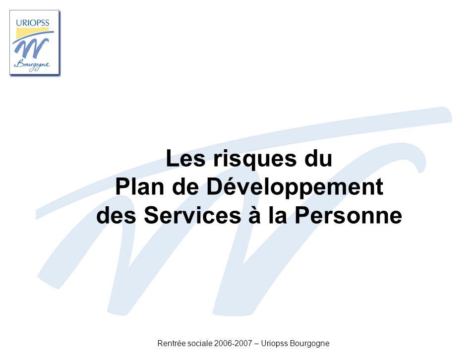 Les risques du Plan de Développement des Services à la Personne