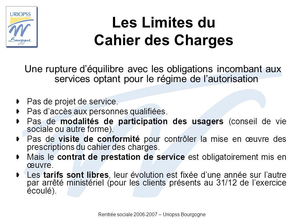 Les Limites du Cahier des Charges