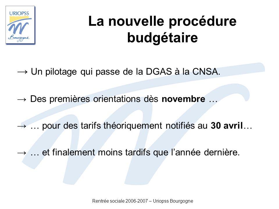 La nouvelle procédure budgétaire