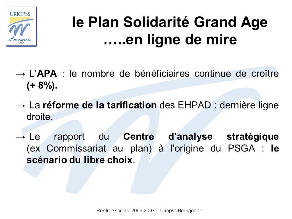 le Plan Solidarité Grand Age …..en ligne de mire