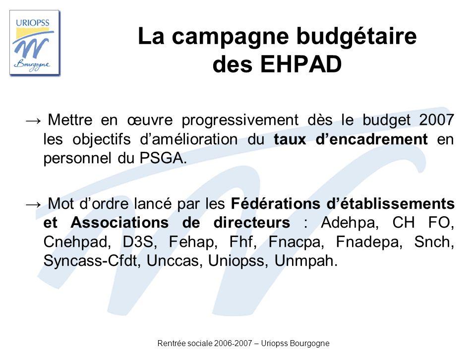 La campagne budgétaire des EHPAD
